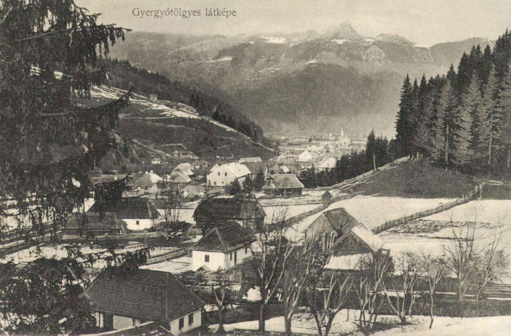 Gyergyótölgyes látkép telén 1914